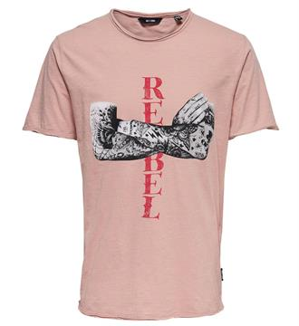 Only and Sons T-shirts 22010031 daenge Oud roze