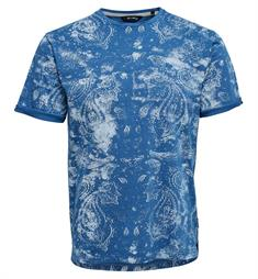 Only and Sons T-shirts 22010362 glenn Blauw dessin
