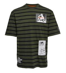 Only and Sons T-shirts 22010931 fausto Army dessin
