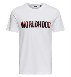 Only and Sons T-shirts 22011347 worldh Wit
