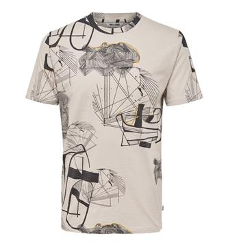 Only and Sons T-shirts Ecru dessin