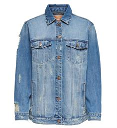 Only Denim jackets 15171764 onllun ls dnm destroy Blauw