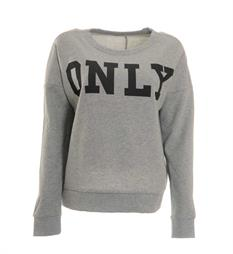 Only Fleece truien 15145063 Grijs melee