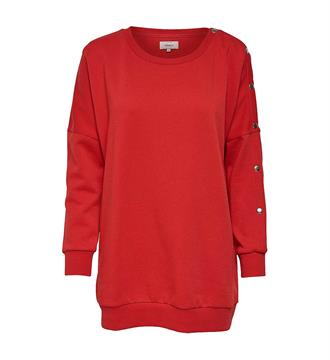 Only Fleece truien 15148561 new am Rood