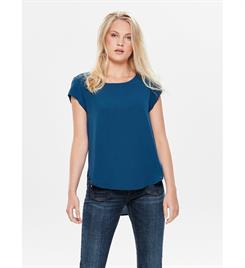 Only Korte mouw T-shirts 15142784 onlvic s/s solid top Blauw
