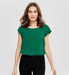 Only Korte mouw T-shirts 15142784 onlvic s/s solid top Groen