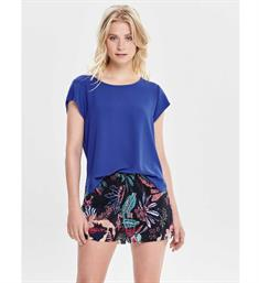 Only Korte mouw T-shirts 15142784 onlvic s/s solid top Kobalt