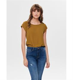 Only Korte mouw T-shirts 15142784 onlvic s/s solid top Oker