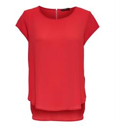Only Korte mouw T-shirts 15142784 onlvic s/s solid top Rood