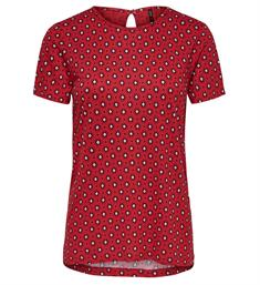 Only Korte mouw T-shirts 15173644 onlnyla s/s aop top Rood
