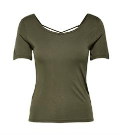 Only Korte mouw T-shirts 15180201 onlcarrie s/s top Army