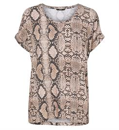 Only Korte mouw T-shirts 15182852 moster aop Beige