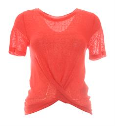 Only Korte mouw T-shirts 15185340 onlriley s/s knot Rood