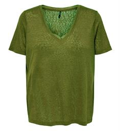 Only Korte mouw T-shirts 15186927 onlriley s/s v-neck Army