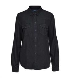 Only Lange mouw blouses 15139582 rock i Black denim