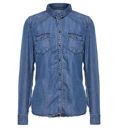 Only Lange mouw blouses 15148887 lucky Medium blue denim