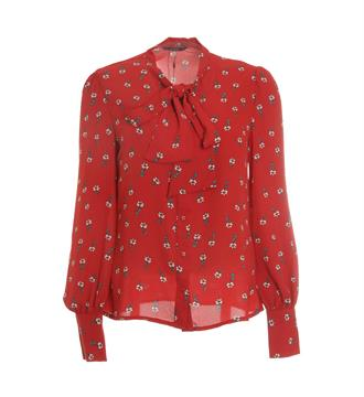Only Lange mouw blouses 15150884 flori Rood dessin
