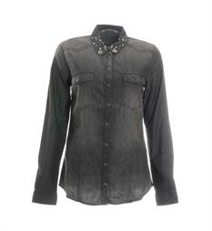Only Lange mouw blouses 15152274 Black denim