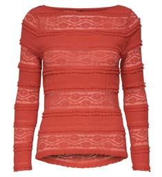 Only Lange mouw T-shirts 15173980 onlmajorie l/s Rood