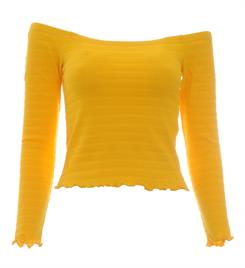 Only Lange mouw T-shirts 15176628 onlolivia l/s off sho Geel