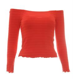 Only Lange mouw T-shirts 15176628 onlolivia l/s off sho Rood