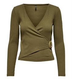 Only Lange mouw T-shirts 15187862 onlhannah l/s Army