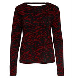 Only Lange mouw T-shirts 15189345 Rood