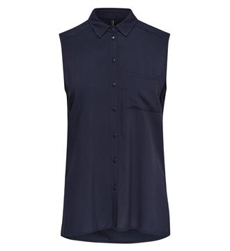 Only Mouwloze blouses Navy