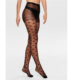 Only Panty's 15187854 onlmoon dot tights Zwart