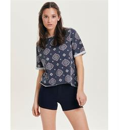 Only T-shirts 15155956 victor Navy dessin