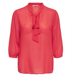 Only Tops 15173853 onlstar 3/4 tie chiff Rood