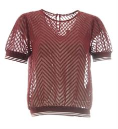 Only Tops 15187248 onllina s/s cropped Bordeaux