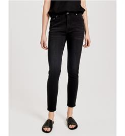 Opus Broeken Evita black pearls 233165325 Black denim