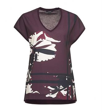 Opus T-shirts Sadia print sp Bordeaux
