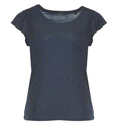 Opus T-shirts Solliana dot Navy