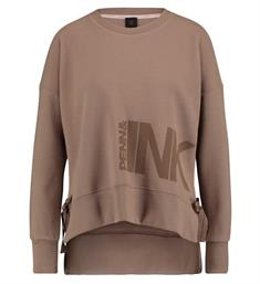 Penn and Ink Fleece truien W18f328 Taupe