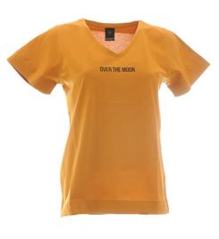 Penn and Ink Korte mouw T-shirts W19f592 Oker