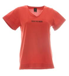 Penn and Ink Korte mouw T-shirts W19f592 Rood