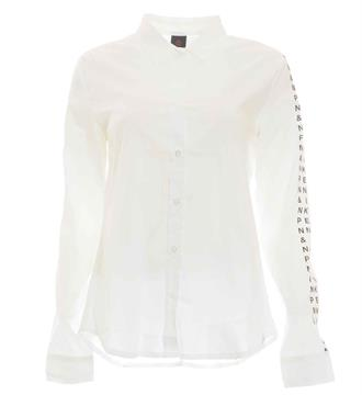 Penn and Ink Lange mouw blouses S217f075 Wit