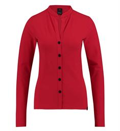Penn and Ink Lange mouw blouses W18n333uk Rood