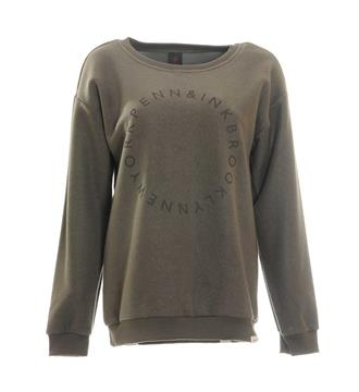 Penn and Ink Sweaters W17f069 Army