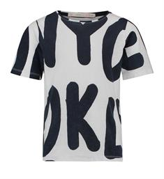 Penn and Ink T-shirts S18f230k Blauw dessin