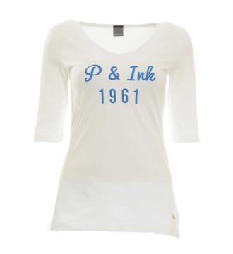 Penn and Ink T-shirts W17f012 Wit