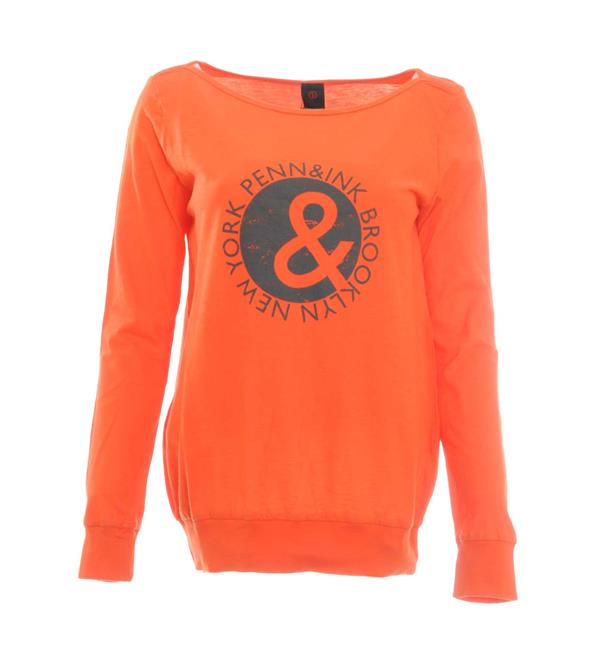 penn-and-ink-t-shirts-w17f049-oranje
