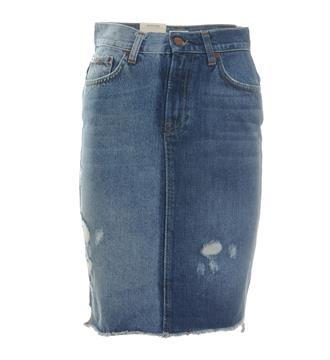 Pepe Jeans Korte rokken Pl900655 patchy Blue denim