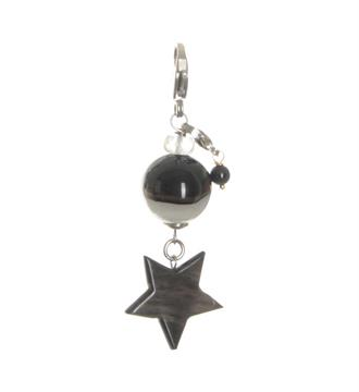 Pimps and Pearls Bedels - hangers 1835 black star Zwart dessin