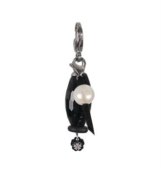 Pimps and Pearls Bedels - hangers 1844 black pear Zwart