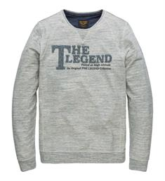 PME Legend Fleece truien Pts181511 Grijs melee