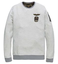PME Legend Fleece truien Pts185515 Ecru
