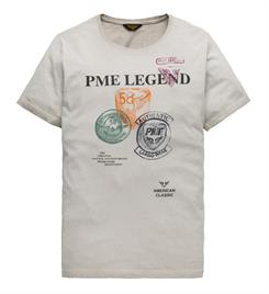 PME Legend Korte mouw T-shirts Ptss195522 Off-white